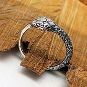 Украшения handmade. Livemaster - original item Ouroboros ring unisex wedding engagement unique handcrafted ring. Handmade.