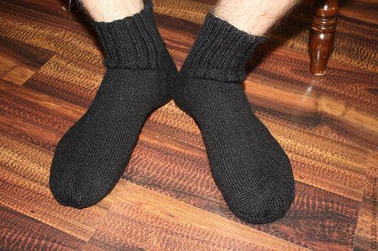 Носки, Чулки ручной работы. Ярмарка Мастеров - ручная работа. Купить носки мужские 100% Альпака. Handmade. Носки вязаные