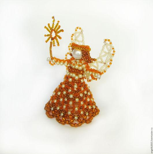 Миниатюрные модели ручной работы. Ярмарка Мастеров - ручная работа. Купить Аукцион! Солнечная фея. Миниатюрный сувенир из бисера и бусин. Handmade.