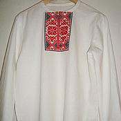 Русский стиль handmade. Livemaster - original item Embroidered mens shirt