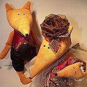 Куклы и игрушки ручной работы. Ярмарка Мастеров - ручная работа ЛИСЫ Семья Папа,Мама и  малыш Лисичка. Handmade.
