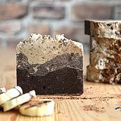 Косметика ручной работы. Ярмарка Мастеров - ручная работа Бананово-шоколадное натуральное взбитое мыло. Handmade.