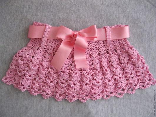 Юбка ручной работы.Розовая летняя юбка.Ярмарка мастеров.