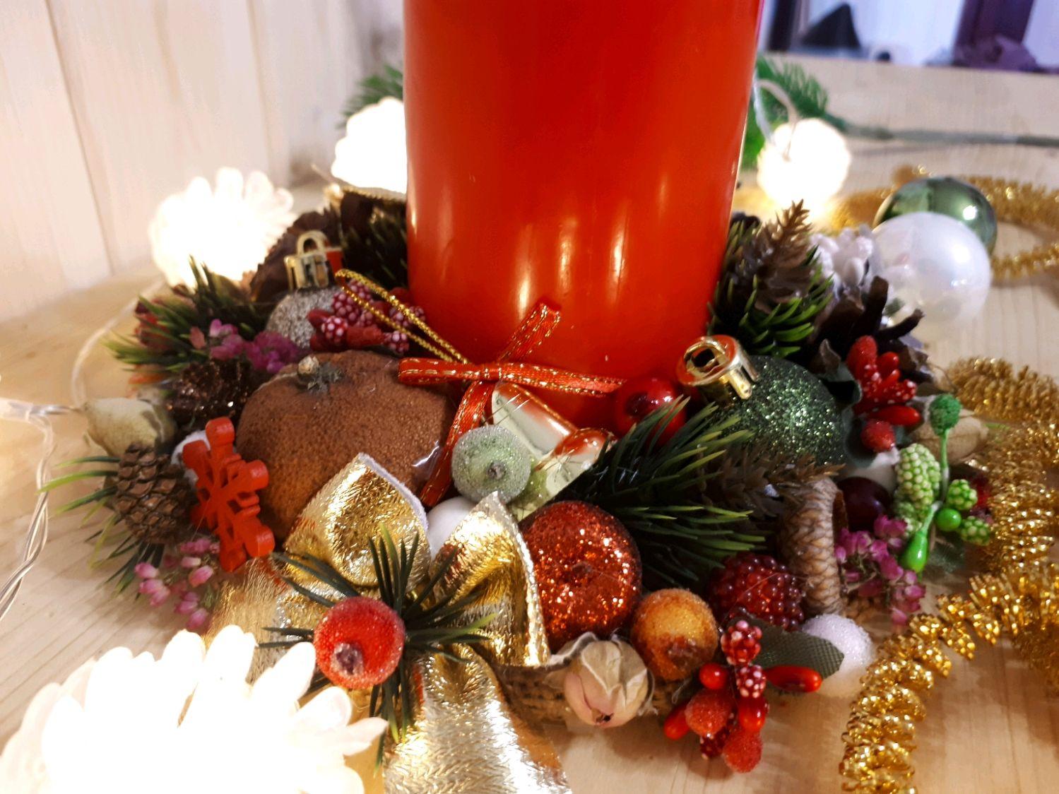 В новогоднем стиле свечка, Свечи, Майкоп,  Фото №1