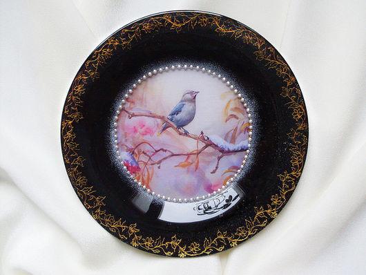 """Кухня ручной работы. Ярмарка Мастеров - ручная работа. Купить Тарелка """"Поздняя осень"""" №2. Handmade. Декоративная тарелка, подарок"""
