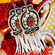 Order Earrings with Margaret fringe. Long earrings. Black red white. LADY-LIZA jewelry shop. Livemaster. . Earrings Фото №3