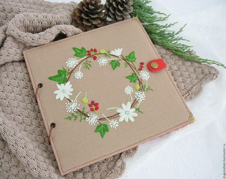 Photo album with embroidery 'Cozy winter', Photo albums, Ekaterinburg,  Фото №1
