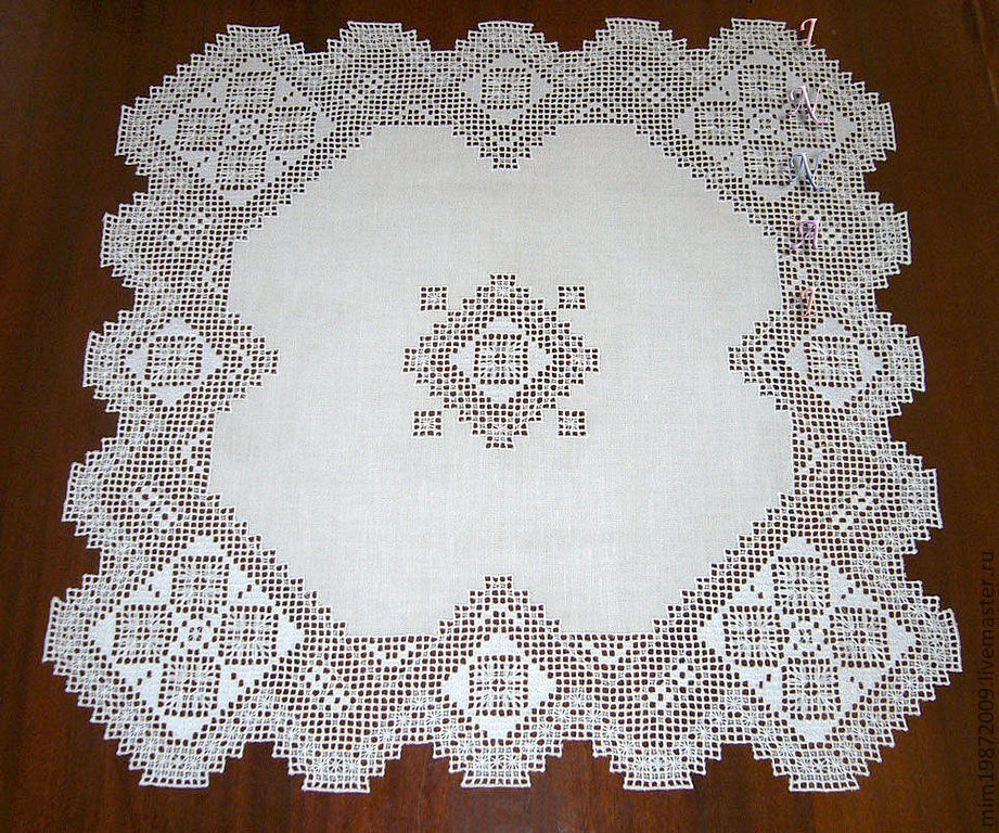 lace openwork white linen tablecloth with embroidery white on white embroidery strojeva decoration, table decoration, Eco house, Mediterranean style, colonial style