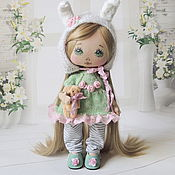 Куклы и игрушки ручной работы. Ярмарка Мастеров - ручная работа Малышка. Мамина зайка.. Handmade.