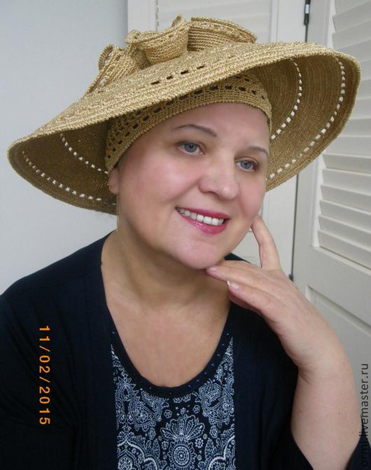 """Шляпы ручной работы. Ярмарка Мастеров - ручная работа. Купить Шляпа """"Золотистая"""". Handmade. Золотой, авторская шляпа, дизайнерская шляпа"""