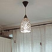 Для дома и интерьера handmade. Livemaster - original item Champagne with chocolate - a ceramic lamp on the suspension. Handmade.
