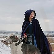 Одежда ручной работы. Ярмарка Мастеров - ручная работа Средневековый бархатный плащ-солнце. Handmade.