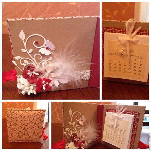Персональные подарки ручной работы. Ярмарка Мастеров - ручная работа. Купить Календарь на новый год.. Handmade. Календарь, скрап бумага