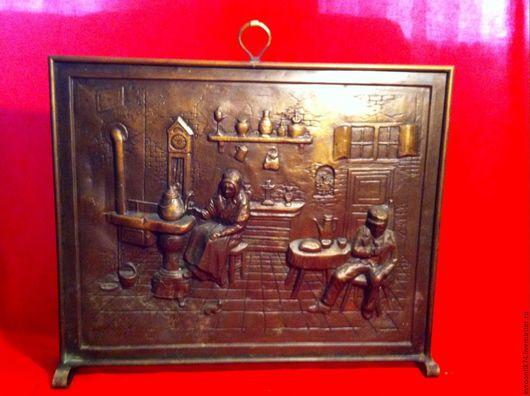 Винтажные предметы интерьера. Ярмарка Мастеров - ручная работа. Купить Старинный каминный экран. Handmade. Каминный экран, интерьер гостинной