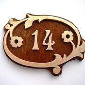 """Для дома и интерьера ручной работы. Ярмарка Мастеров - ручная работа Табличка на дверь """"№14"""". Handmade."""
