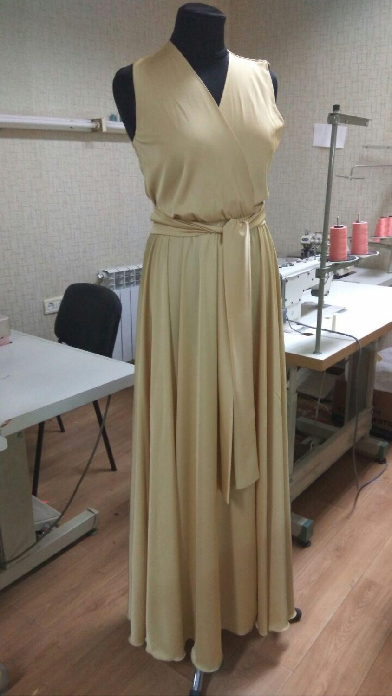 Платья ручной работы. Ярмарка Мастеров - ручная работа. Купить Шелковое платье Золотое. Handmade. Вечернее платье, купить платье