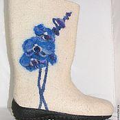 Обувь ручной работы. Ярмарка Мастеров - ручная работа валенки Синяя орхидея. Handmade.