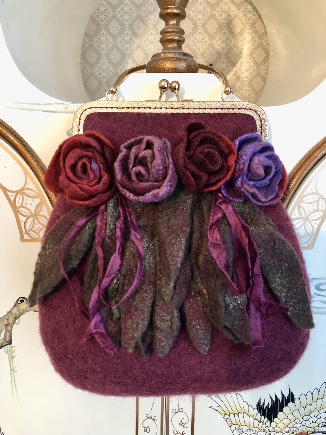 Bag felted ' Crimson Queen», Classic Bag, Moscow,  Фото №1