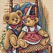 Картины и панно ручной работы. Ярмарка Мастеров - ручная работа Мишки на стуле.. Handmade.