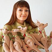Куклы и игрушки ручной работы. Ярмарка Мастеров - ручная работа Олени в стиле тильда. Handmade.