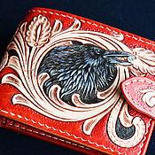 Сумки и аксессуары handmade. Livemaster - original item Red Raven Purse in patterns. Handmade.