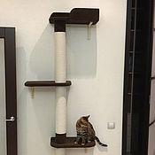 Для домашних животных, handmade. Livemaster - original item Wall house for cats buy. Available in size.. Handmade.