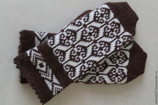 """Варежки, митенки, перчатки ручной работы. Ярмарка Мастеров - ручная работа. Купить Варежки """"Шоколадка"""". Handmade. Коричневый, варежки теплые"""