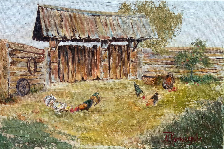 Картина Птичий двор, Картины, Краснодар,  Фото №1