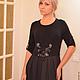 Платья ручной работы. платье комбинированное стиль бохо. творческая мастерская LUCKYSTYLE. Ярмарка Мастеров. Черный цвет, аппликация из ткани