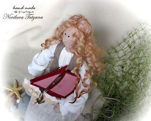 Ассоль Тильда ангел Фея тильда Ангел-хранитель Рыжие волосы Алые паруса  Подарок девочке Подарок девушке Романтичный подарок девушке Тильды Подарок Тильда Тильда ангел Ассоль Кукла Тильда Тильда фея
