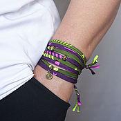 Украшения handmade. Livemaster - original item Lambada textile bracelet. Handmade.
