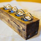 Для дома и интерьера ручной работы. Ярмарка Мастеров - ручная работа Деревянный подсвечник на 4 свечи. Handmade.