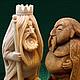 Статуэтки ручной работы. Ярмарка Мастеров - ручная работа. Купить Былинные герои. Handmade. Коричневый, handmade, деревянная скульптура, тонирование