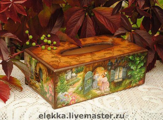 """Кухня ручной работы. Ярмарка Мастеров - ручная работа. Купить Салфетница """"Мышкины посиделки"""". Handmade. Салфетница, салфетница из дерева, сказка"""