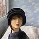 """Шляпы ручной работы. Ярмарка Мастеров - ручная работа. Купить шляпка-трансформер  """"Белинда"""". Handmade. Валяная шляпка, шляпы для женщин"""