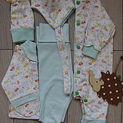 Комплекты одежды ручной работы. Ярмарка Мастеров - ручная работа Комплект для новорожденного рост 56. Handmade.