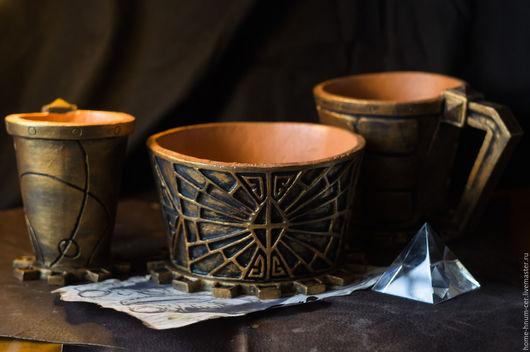 """Сервизы, чайные пары ручной работы. Ярмарка Мастеров - ручная работа. Купить Набор двемерской посуды """"Пир у Думака"""". Handmade."""