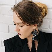 Украшения handmade. Livemaster - original item Earrings with birds Hummingbird