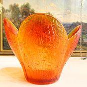 Винтаж handmade. Livemaster - original item The candy bowl vase FLOWER vase glass, USSR. Handmade.