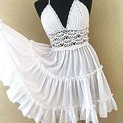 Одежда handmade. Livemaster - original item White lace dress. Handmade.