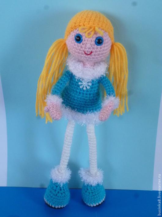 Очаровательная кукла Снежка. Вязаная кукла