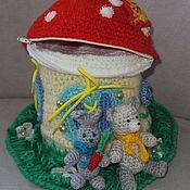 Куклы и игрушки ручной работы. Ярмарка Мастеров - ручная работа Развивающая игрушка Грибок. Handmade.