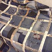 Для дома и интерьера ручной работы. Ярмарка Мастеров - ручная работа Покрывало джинсовое. Handmade.
