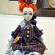 Коллекционные куклы ручной работы. Ярмарка Мастеров - ручная работа. Купить Эмма - подвижная будуарная кукла. Handmade. Рыжий, darwi