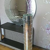Для дома и интерьера ручной работы. Ярмарка Мастеров - ручная работа Зеркало-солнце серебряное. Handmade.