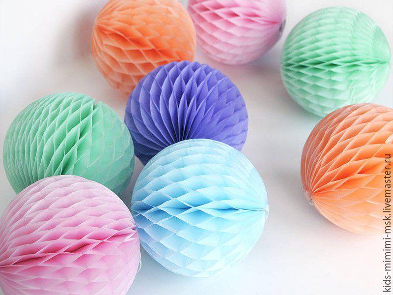 Как сделать шары соты из бумаги своими руками