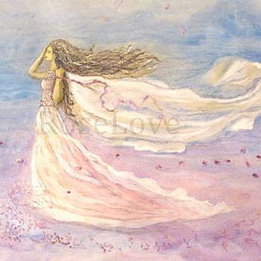 """Картины и панно ручной работы. Ярмарка Мастеров - ручная работа Картина """" На одном дыханье с ветром """". Handmade."""