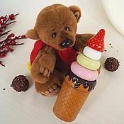 """Мягкие игрушки ручной работы. Ярмарка Мастеров - ручная работа Пирамидка """"Мороженка"""". Handmade."""