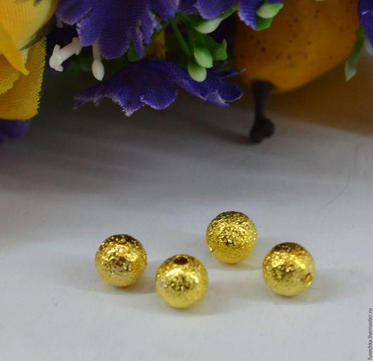 Для украшений ручной работы. Ярмарка Мастеров - ручная работа. Купить Бусина металлическая под золото 5 мм.. Handmade.