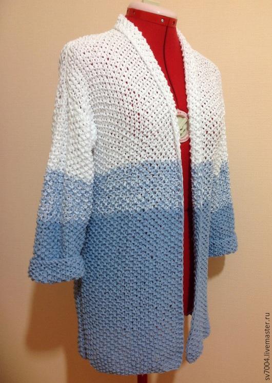 """Пиджаки, жакеты ручной работы. Ярмарка Мастеров - ручная работа. Купить Жакет """"Морской бриз"""". Handmade. Разноцветный, Жакет вязаный"""